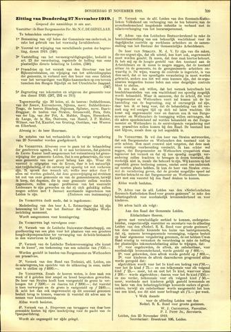 Handelingen van de Raad 1919-11-27