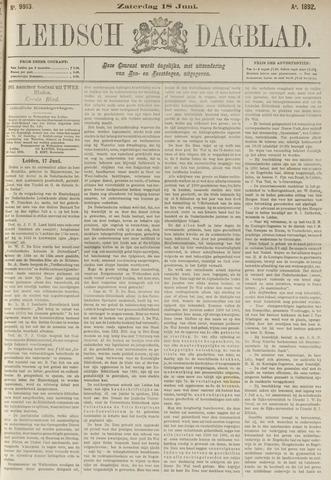 Leidsch Dagblad 1892-06-18