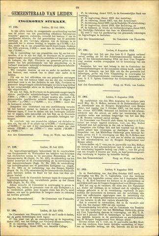 Handelingen van de Raad 1918-07-22
