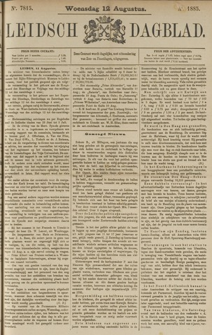 Leidsch Dagblad 1885-08-12