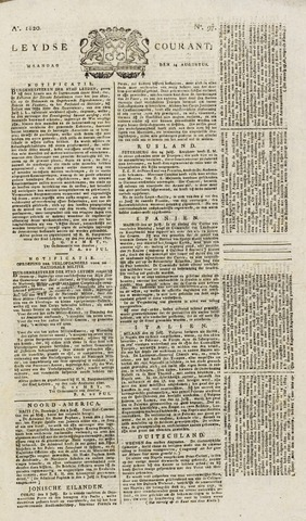 Leydse Courant 1820-08-14