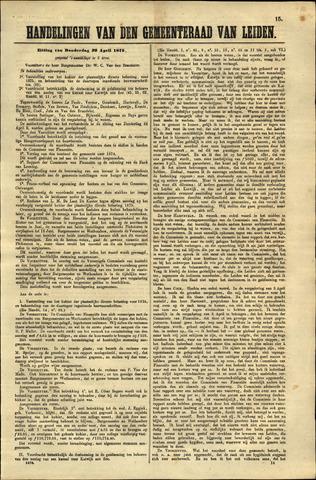 Handelingen van de Raad 1875-04-29
