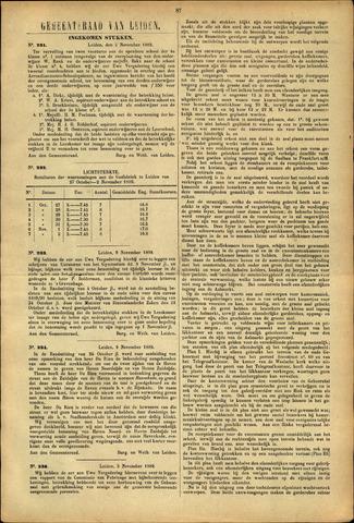 Handelingen van de Raad 1889-11-05
