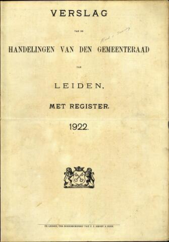 Handelingen van de Raad 1922-01-01