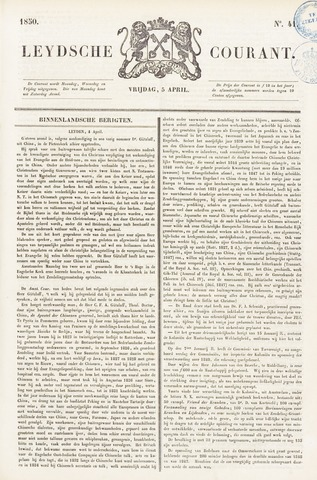Leydse Courant 1850-04-05