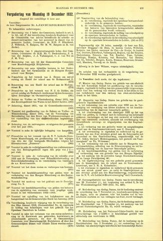 Handelingen van de Raad 1932-12-19