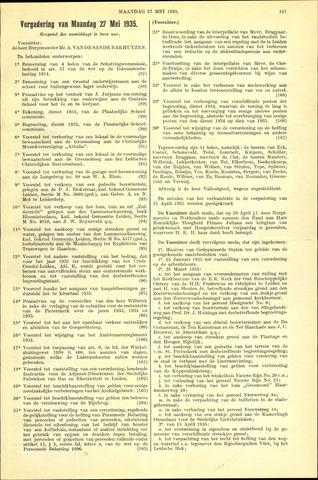 Handelingen van de Raad 1935-05-27