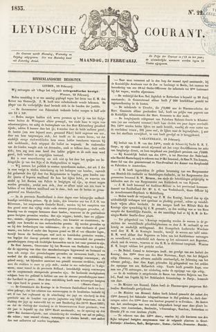 Leydse Courant 1853-02-21