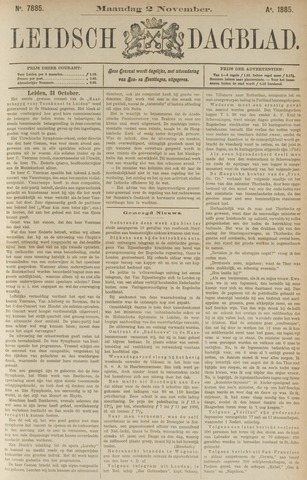 Leidsch Dagblad 1885-11-02