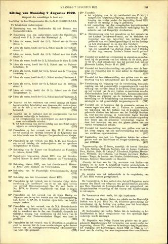 Handelingen van de Raad 1922-08-07
