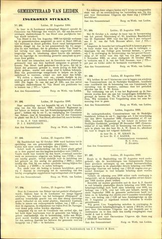 Handelingen van de Raad 1900-08-21