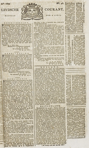 Leydse Courant 1825-04-18