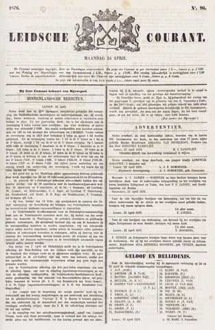 Leydse Courant 1876-04-24