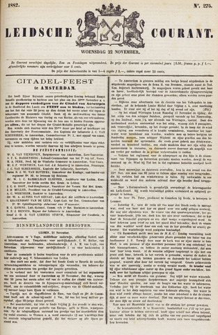 Leydse Courant 1882-11-22