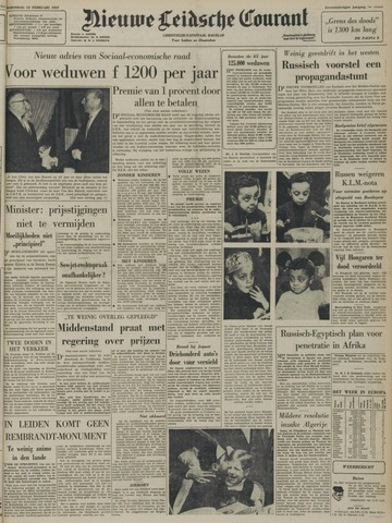 Nieuwe Leidsche Courant 1957-02-13