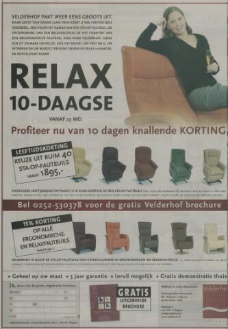Velderhof Fauteuils Hillegom.Leidsch Dagblad 26 Mei 2005 Pagina 24 Historische