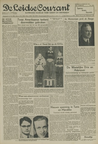 Leidse Courant 1952-02-19