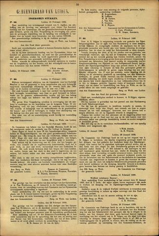Handelingen van de Raad 1889-02-21