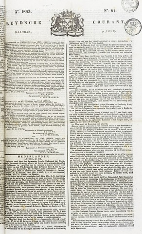 Leydse Courant 1843-07-31