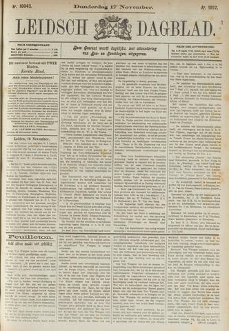 Leidsch Dagblad 1892-11-17
