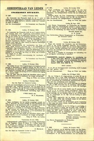 Handelingen van de Raad 1912-10-06