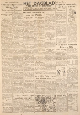 Dagblad voor Leiden en Omstreken 1944-08-28