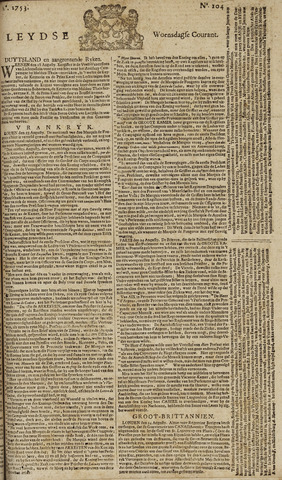 Leydse Courant 1753-08-29