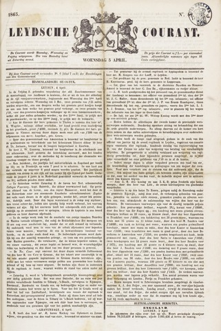 Leydse Courant 1865-04-05