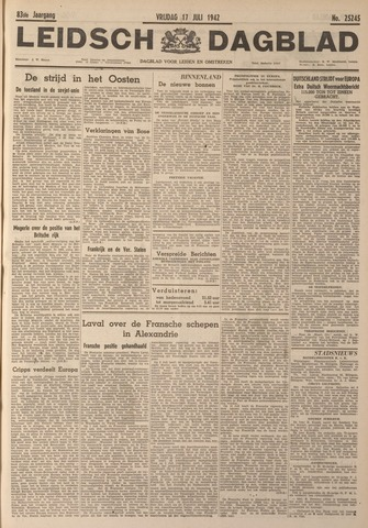 Leidsch Dagblad 1942-07-17