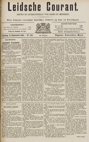 Leydse Courant 1885-09-15