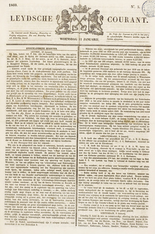 Leydse Courant 1860-01-11
