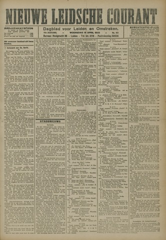 Nieuwe Leidsche Courant 1923-04-18