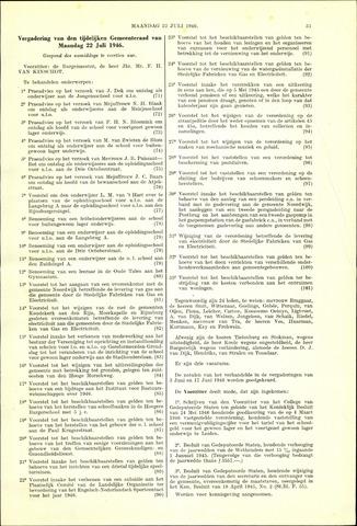 Handelingen van de Raad 1946-07-22