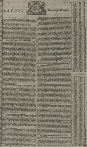 Leydse Courant 1749-12-03