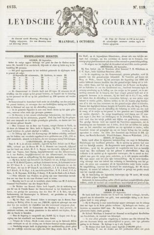 Leydse Courant 1855-10-01