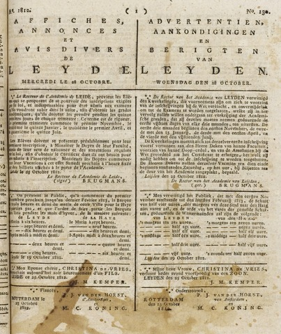 Leydse Courant 1812-10-28