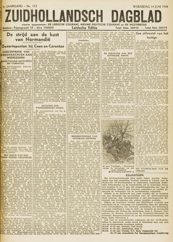 Zuidhollandsch Dagblad 1944-06-14