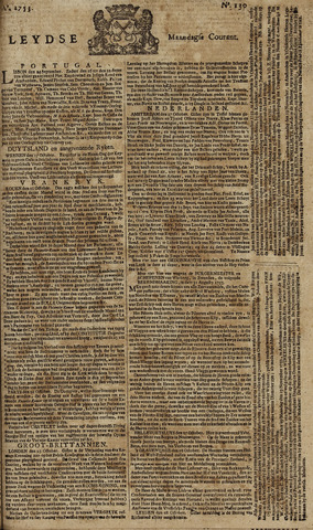 Leydse Courant 1753-10-29
