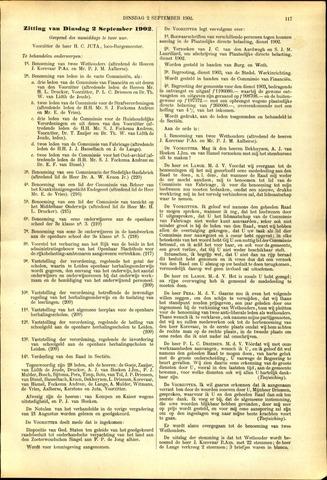 Handelingen van de Raad 1902-09-02