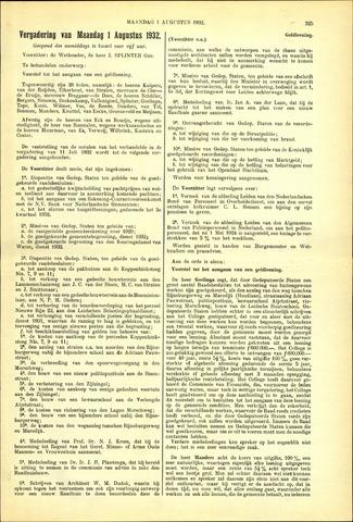 Handelingen van de Raad 1932-08-01