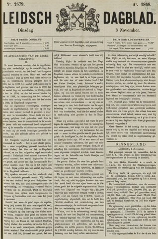 Leidsch Dagblad 1868-11-03