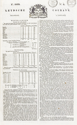 Leydse Courant 1839-01-14