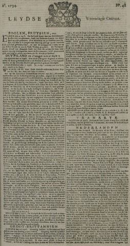 Leydse Courant 1734-04-21