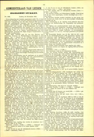 Handelingen van de Raad 1925-11-19