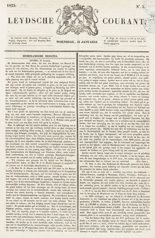 Leydse Courant 1853-01-12
