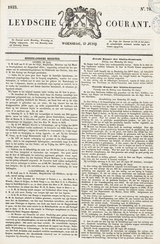 Leydse Courant 1855-06-27