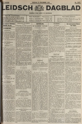 Leidsch Dagblad 1933-12-22