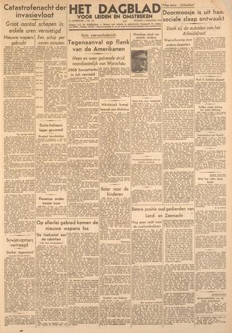 Dagblad voor Leiden en Omstreken 1944-08-04