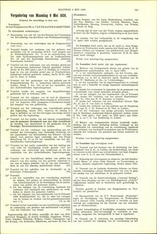 Handelingen van de Raad 1938-05-09