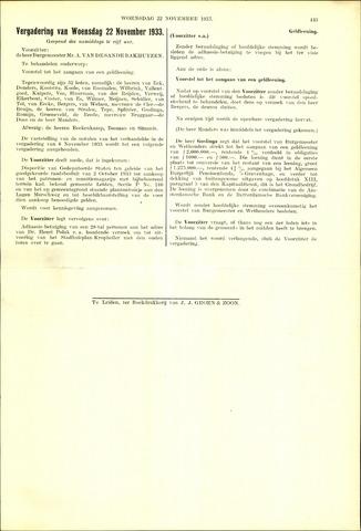 Handelingen van de Raad 1933-11-22